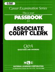 Cover of: Associate Court Clerk C-2587 |