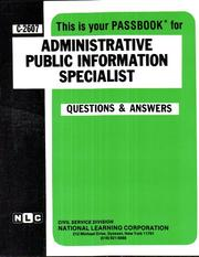 Cover of: Administrative Public Information Specialist | Jack Rudman