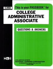 Cover of: College Administrative Associate | National Learning Corporation