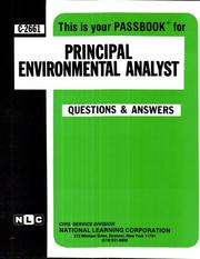 Cover of: Principal Environmental Analyst | National Learning Corporation