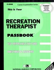 Cover of: Recreation Therapist