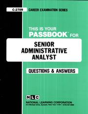 Cover of: Senior Administrative Analyst |
