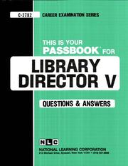 Cover of: Library Director V | National Learning Corporation