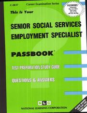 Cover of: Senior Social Services Employment Specialist | National Learning Corporation
