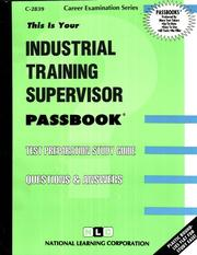 Cover of: Industrial Training Supervisor |