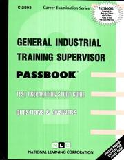 Cover of: General Industrial Training Supervisor | Jack Rudman