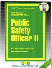Cover of: Public Safety Officer II | National Learning Corporation