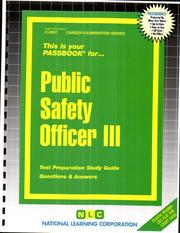 Cover of: Public Safety Officer III | National Learning Corporation