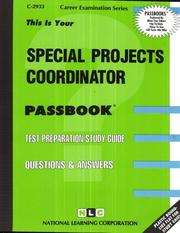 Cover of: Special Projects Coordinator | National Learning Corporation