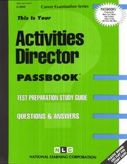 Cover of: Activities Director |