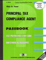 Cover of: Principal Tax Compliance Agent | National Learning Corporation