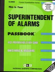 Cover of: Superintendent of Alarms | National Learning Corporation