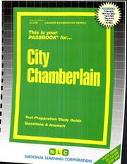 Cover of: City Chamberlain | National Learning Corporation