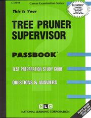 Cover of: Tree Pruner Supervisor | National Learning Corporation