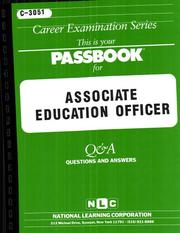 Cover of: Associate Education Officer | National Learning Corporation
