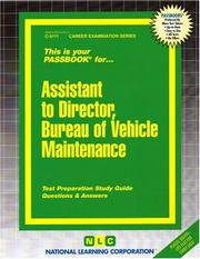Cover of: Assistant to Director, Bureau of Vehicle Maintenance | National Learning Corporation