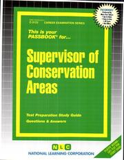Cover of: Supervisor of Conservation Areas | National Learning Corporation