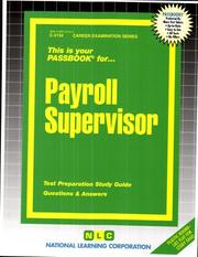 Cover of: Payroll Supervisor | Jack Rudman