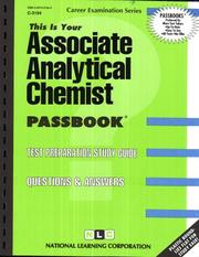 Cover of: Associate Analytical Chemist | National Learning Corporation