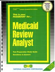 Cover of: Medicaid Review Analyst | National Learning Corporation