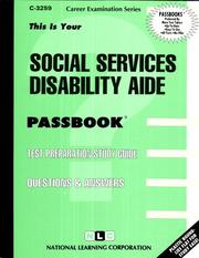Cover of: Social Services Disability Aide | Jack Rudman