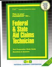 Cover of: Federal and State Aid Claims Technician | Jack Rudman