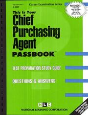 Cover of: Chief Purchasing Agent | Jack Rudman
