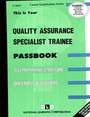 Cover of: Quality Assurance Specialist Trainee |