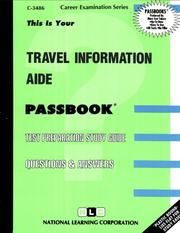Cover of: Travel Information Aide | Jack Rudman