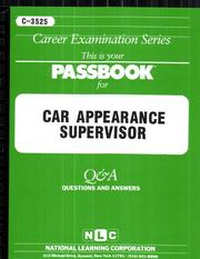 Cover of: Car Appearance Supervisor | National Learning Corporation