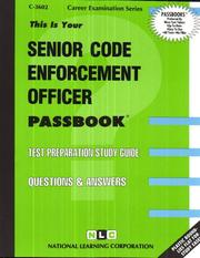 Cover of: Senior Code Enforcement Officer | National Learning Corporation