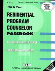 Cover of: Residential Program Counselor | National Learning Corporation