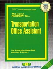 Cover of: Transportation Office Assistant (Career Examination Passbooks) |