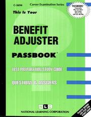 Cover of: Benefit Adjuster | National Learning Corporation