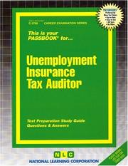 Cover of: Unemployment Insurance Tax Auditor | National Learning Corporation