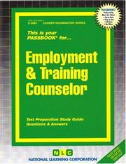 Cover of: Employment & Training Counselor (Career Examination Passbooks) |