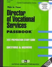Cover of: Director of Vocational Services | National Learning Corporation