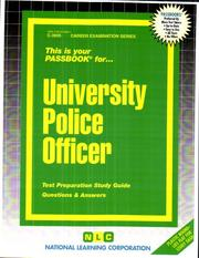 Cover of: University Police Officer | National Learning Corporation