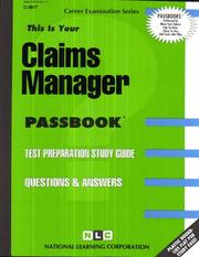 Cover of: Claims Manager | National Learning Corporation