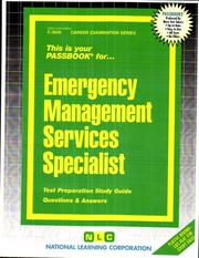 Cover of: Emergency Management Services Specialist | National Learning Corporation
