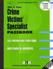 Cover of: Crime Victims