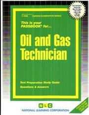 Cover of: Oil and Gas Technician | National Learning Corporation
