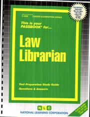 Cover of: Law Librarian | National Learning Corporation