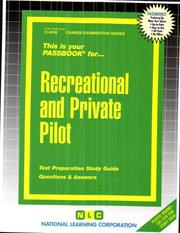Cover of: Recreational and Private Pilot (Career Examination Passbooks) |