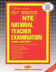 Cover of: National Teacher Examination (NTE) - Core Battery | Jack Rudman