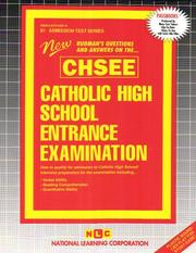 Cover of: Catholic High School Entrance Examination (CHSEE) by