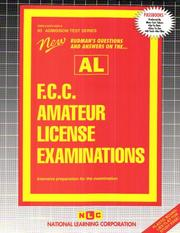 Cover of: F.C.C. Amateur License Examinations (Al (Admission Test Series) |