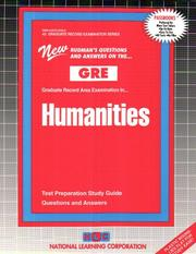 Cover of: GRE Humanities (Graduate Record Area Examination Series, Gre-42) |