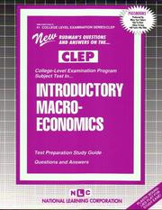 Cover of: CLEP Introductory Macro-Economics (College-Level Examination Program) |