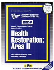 Cover of: REDP Health Restoration | Jack Rudman